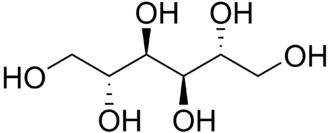 Mannitol - Image: Mannitol structure