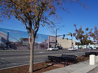 Manteca, California - From the corner of Yosemite and Main in Manteca