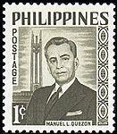 Manuel L. Quezon 1960 stamp of the Philippines.jpg
