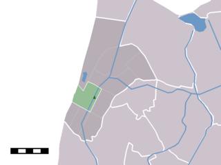 Sint Maartensvlotbrug Village in North Holland, Netherlands