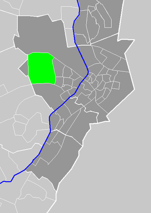 Boekend - Location of Boekend in the municipality of Venlo