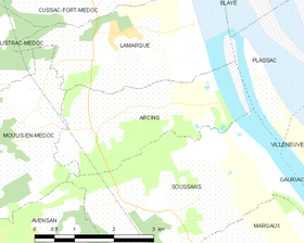 Map commune FR insee code 33010.png