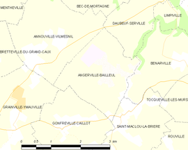 Mapa obce Angerville-Bailleul
