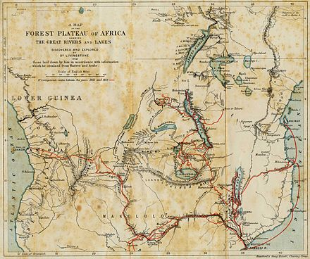 The journeys of Livingstone in Africa between 1851 and 1873 Map livingstone travels africa.jpg