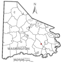Location of Cokeburg in Washington County