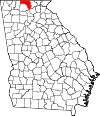 Map of Georgia highlighting Fannin County.svg