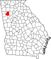 Map of Georgia highlighting Paulding County.svg