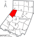 Map of Indiana County, Pennsylvania Highlighting Washington Township.PNG