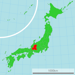 Map of Japan with highlight on 21 Gifu prefecture.svg