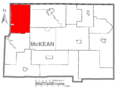 Map of McKean County Highlighting Corydon Township.PNG