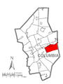 Map of Mifflin Township, Columbia County, Pennsylvania Highlighted.png