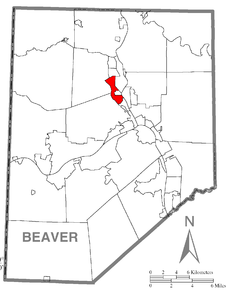 Map of Patterson Township, Beaver County, Pennsylvania Highlighted.png