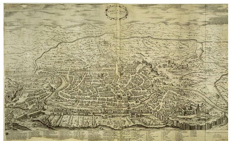 Ugo Pinard Pianta di Roma 1555
