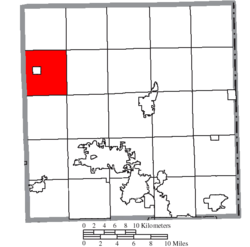 Location of Farmington Township in Trumbull County