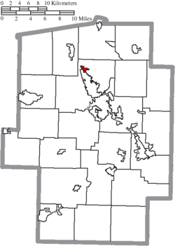 Location of Parral in Tuscarawas County