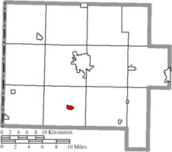 Location of Ohio City in Van Wert County