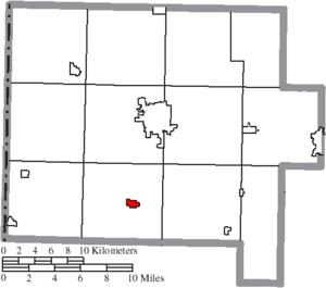 Ohio City, Ohio - Image: Map of Van Wert County Ohio Highlighting Ohio City Village