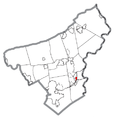 Map of West Easton, Northampton County, Pennsylvania Highlighted.png