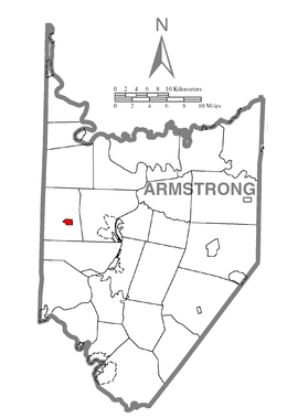Map of Worthington, Armstrong County, Pennsylvania Highlighted.png