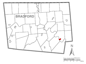 Map of Wyalusing, Bradford County, Pennsylvania Highlighted.png