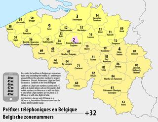 Telephone numbers in Belgium Wikipedia list article