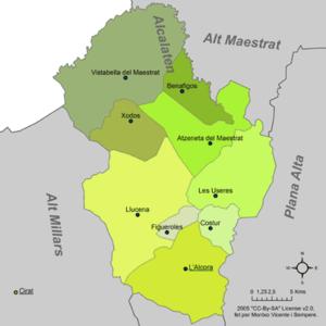 Alcalatén - Municipalities of Alcalatén