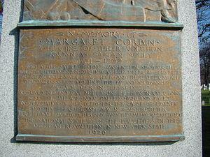 Margaret Corbin Monument - Image: Margaret Corbin Memorial Base, West Point, NY