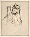 Margot Wearing a Large Bonnet, Seated in an Armchair MET DP815199.jpg