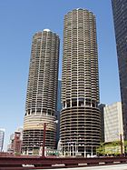 The Marina City Towers, the 38th-tallest buildings in Chicago