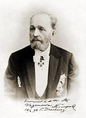 Marius Petipa - Maestro Marius Ivanovich Petipa, premier maître de ballet of the St. Petersburg Imperial Theatres. St. Petersburg, 1887.