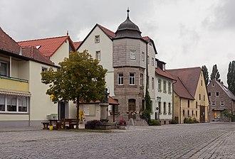 Marktbergel - Image: Marktbergel, straatzicht die Würzburger Strasse foto 7 2016 08 05 12.53