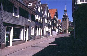 Hückeswagen - Market street in Hückeswagen
