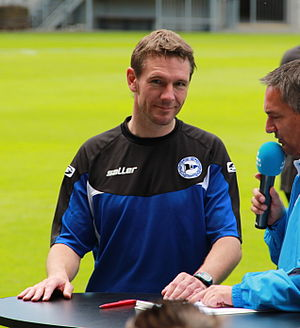 Markus von Ahlen - Von Ahlen being interviewed while manager of Arminia Bielefeld in 2011