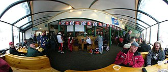 """Marquette Mountain - Panoramic image inside the """"Carp River Saloon"""""""