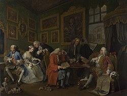 Ουΐλλιαμ Χόγκαρθ: Marriage à-la-mode: 1. The Marriage Settlement