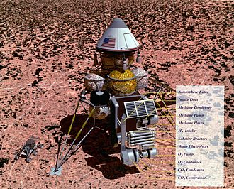 Mars sample return mission - Artist concept of a Mars sample return mission, 1993