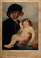 Martha Gunn, a Brighton bather holding a small child that sh Wellcome V0017100.jpg
