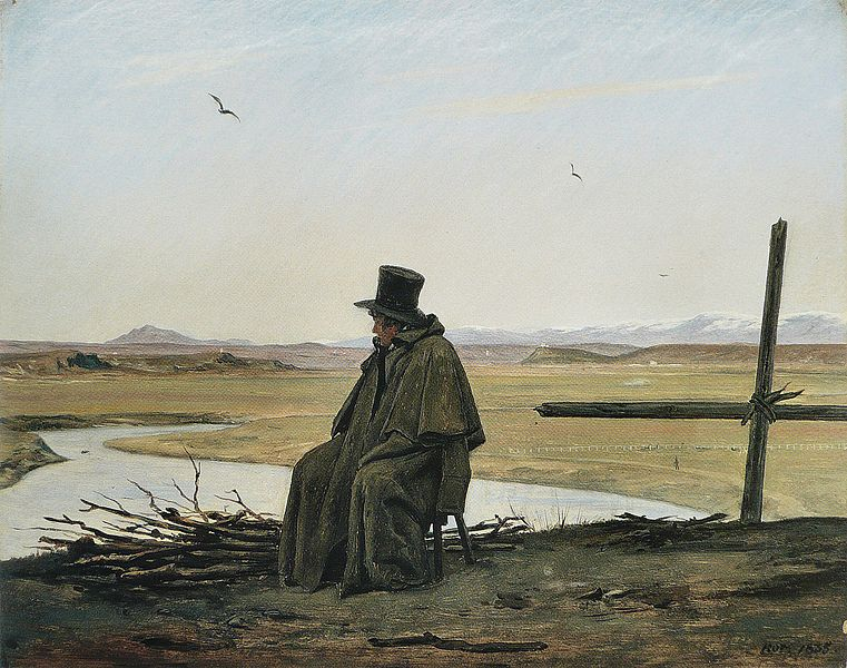 File:Martinus Rørbye - Un voyageur.jpg