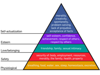 Need - Maslow's Hierarchy of Needs