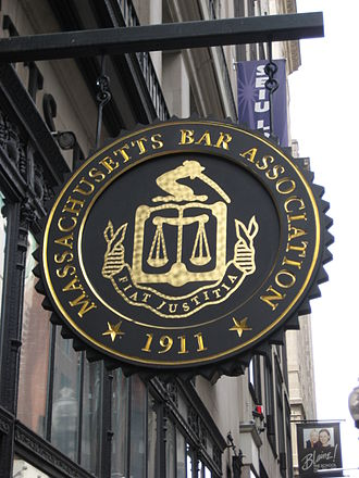 State bar association - Sign outside the Massachusetts Bar Association in Boston