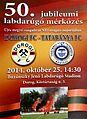 Match placard for 50th anniversary division game of Dorog vs Tatabanya.jpg