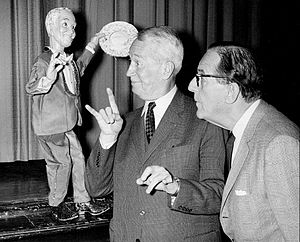 Les Poupées de Paris - Maurice Chevalier and Stanley Holloway with the Chevalier marionette on The Bell Telephone Hour.