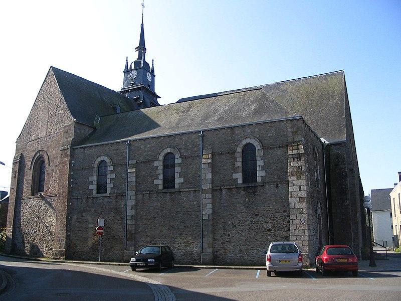 The churche Saint-Martin of Mayenne, Mayenne, France.