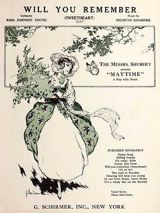 "Maytime (musical) - Sheet music for ""Will You Remember (Sweetheart)"" (1917)"
