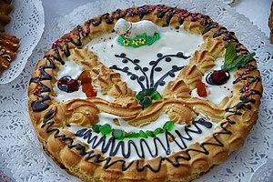 Mazurek (cake) - Mazurek decorated for Easter