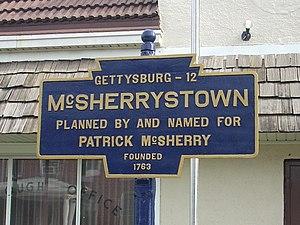 McSherrystown, Pennsylvania - Image: Mc Sherrystown, PA Keystone Marker