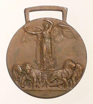 Allied Victory Medal (Italy) - Image: Medaglia interalleata italiana recto