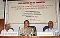 Meira Kumar addressing the media persons in connection with the 6th meeting of the Committee constituted for effective coordination to curb offences of untouchability and atrocities against SC and ST etc., in Agartala.jpg