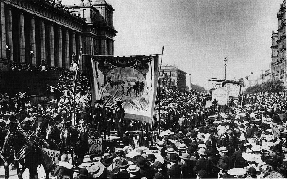 Melbourne eight hour day march-c1900