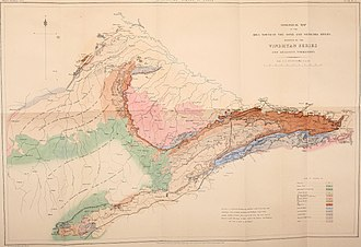 "Vindhya Range - A map of the ""Vindhyan Series"" from Geological Survey of India (1871)"